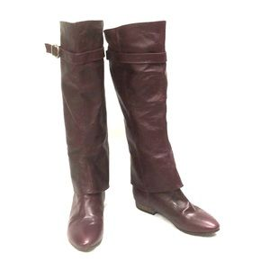 Maroon Chinese Laundry Vegan Boots size 7